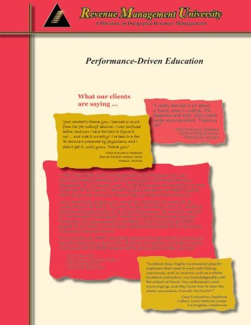 Performance-Driven Education - CentraMed