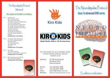NeuroImpulse Protocol DVD Catalogue - Kiro Kids