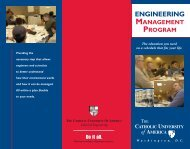 Graduate Engineering Management Brochure - the School of ...