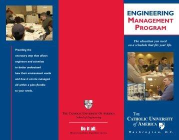 Graduate Engineering Management Brochure - the School of ...