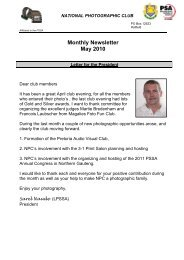 Monthly Newsletter May 2010 - National Photographic Club