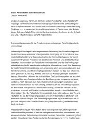 Erster Periodischer Sicherheitsbericht Uta von Kiedrowski Die ...