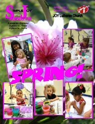 APRIL, 2013 Volume 10, Issue 4 - JOY Lutheran Church