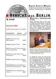 bericht aus berlin 12-06 - Karin Evers-Meyer MdB