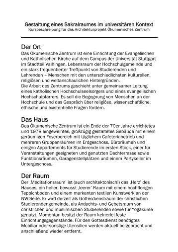 Wunderbar Gestaltung Eines Sakralraumes Im Universitären Kontext   Und .