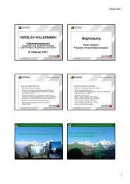 Präsentation Susanne Huber - Volkswirtschaft Berner Oberland