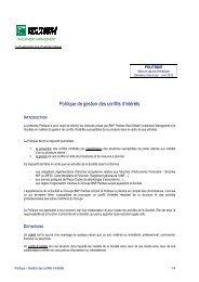 Politique Gestion des conflits d'intérêts maj 2012 - EPI