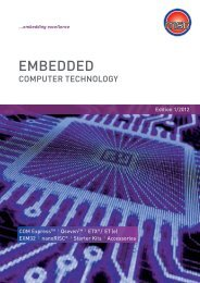 Embedded and Industrial Products Guide - MSC Vertriebs GmbH