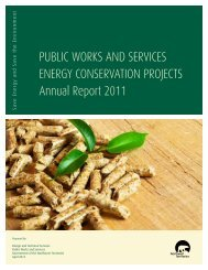 Energy Conservation Report 2011 - Department of Public Works and ...