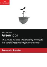 Economist Debate: Green jobs