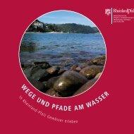 W EGE uND PFADE AM WAssEr - Ministerium für Umwelt ...