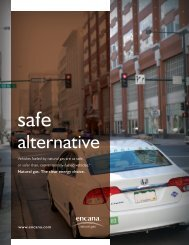 Safe Alternative brochure - Encana