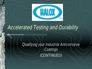 Accelerated Testing and Durability - Halox