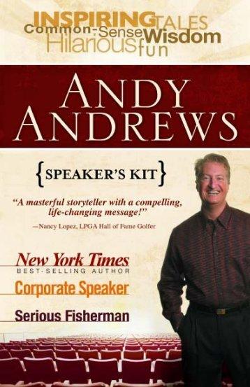 Speaker's Kit - Andy Andrews
