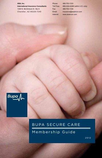 BUPA SECURE CARE Membership Guide - ASA International ...