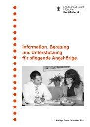 Information, Beratung und Unterstützung für pflegende Angehörige ...