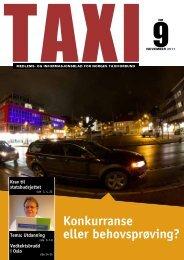 TAXI nr. 9/11 - Norges Taxiforbund