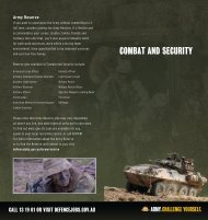 COMBAT AND SECURITY - Australian Defence Force Recruiting