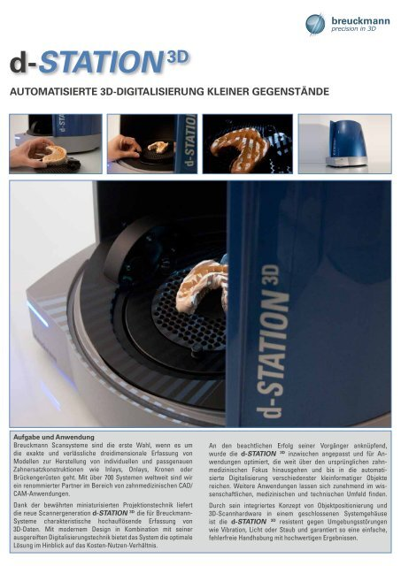 Download Produktflyer d-STATION - AICON 3D Systems
