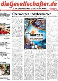 Über morgen und übermorgen - Die Gesellschafter.de