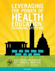 Download - Society for Public Health Education