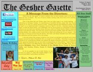 Issue 6 - August 9, 2013 - Gesher Summer Camp