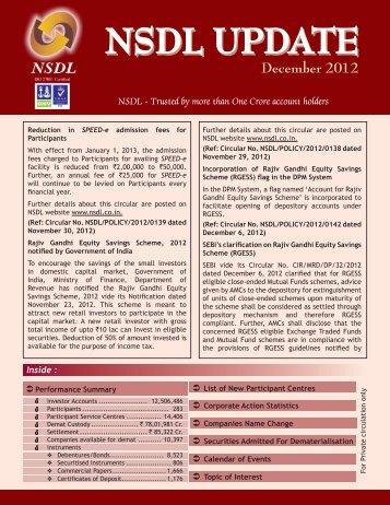December 2012 - NSDL