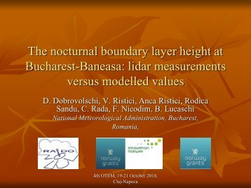 The nocturnal boundary layer height at Bucharest-Baneasa: lidar ...