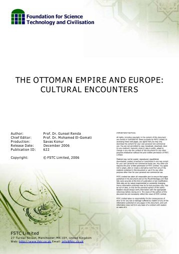 THE OTTOMAN EMPIRE AND EUROPE: CULTURAL ENCOUNTERS