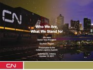 Who We Are, What We Stand for - Indiana Logistics
