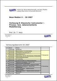 VL08 - Modellierung (2 Folien/Seite) - Institut für ...