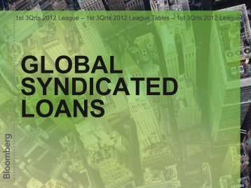 Global Syndicated Loan - Bloomberg