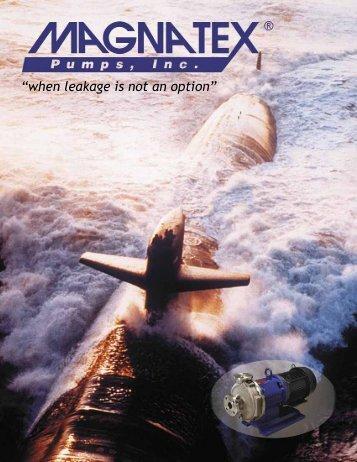 Magnatex Pumps, Inc. - General Product Brochure - Process Pumps