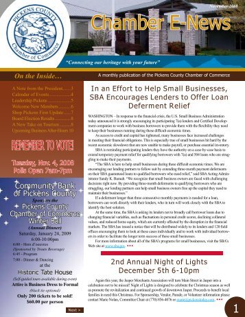 Chamber E-News - Pickens County Chamber of Commerce