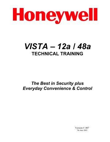 vista 12a / 48a technical training manual - Jacksons Security