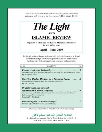 Light (86-2) - The Lahore Ahmadiyya Movement in Islam