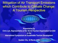 Mitigation of Air Transport Emissions which Contribute to Climate ...