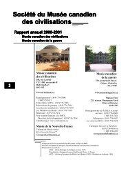 Société du Musée canadien des civilisations - Canadian Museum of ...