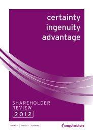 Shareholder Review 2012 - Computershare