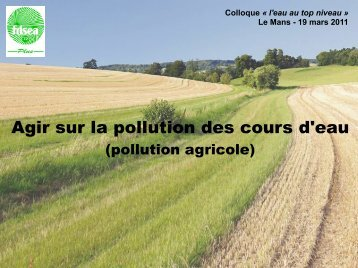 Agir sur la pollution des cours d'eau