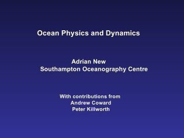 Adrian New - Atmospheric Dynamics Group