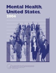 Mental Health, United States, 2004 - SAMHSA Store - Substance ...