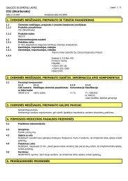 SAUGOS DUOMENŲ LAPAS CO2 (Bicarbonate ... - Thermo Scientific