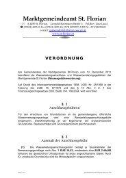 Wassergebührenordnung (94 KB) - .PDF - Marktgemeinde St.Florian