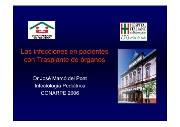 Las infecciones en pacientes con Trasplante de órganos