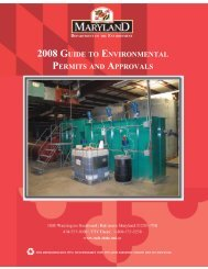2008 Maryland Guide to Environmental Permits and Approvals