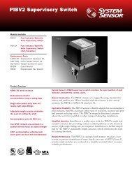 PIBV2 Supervisory Switch
