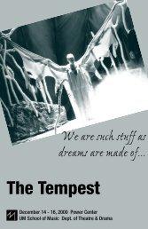 11 - tempest program - University of Michigan School of Music