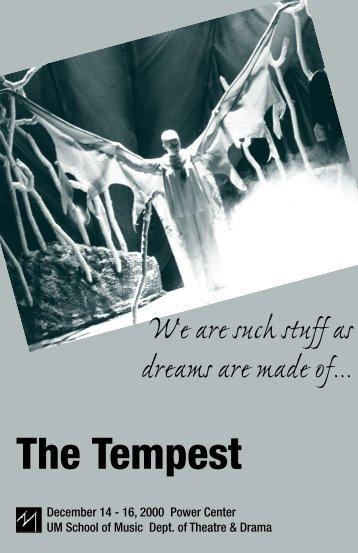 11 - tempest program - University of Michigan School of Music