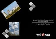 Projects Under Planning - National Aluminium Company Ltd.